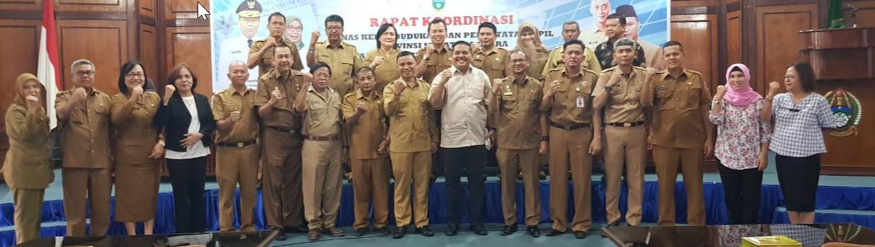 <p>Rapat Koordinasi Dinas Kependudukan Dan Pencatatan Sipil Provinsi Sumatera Utara Dan Dinas Kependudukan Dan Pencatatan Sipil Kabupaten / Kota Se Sumatera Utara Tahun 2018</p>